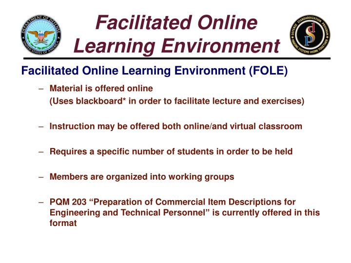 Facilitated Online
