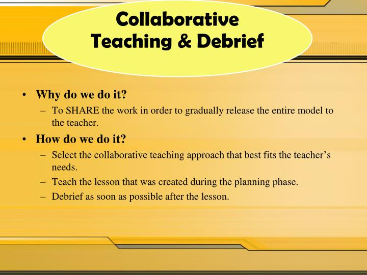 Collaborative Teaching Lesson Plans : Ppt coaching cycle continuum powerpoint