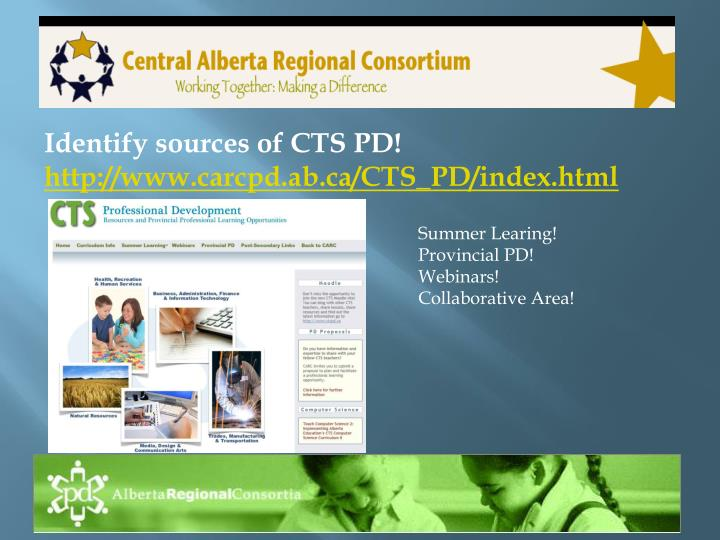 Identify sources of cts pd http www carcpd ab ca cts pd index html