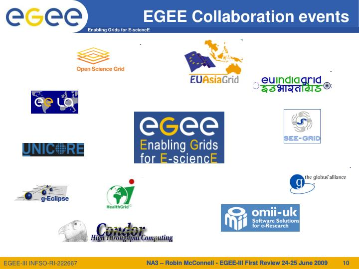EGEE Collaboration events