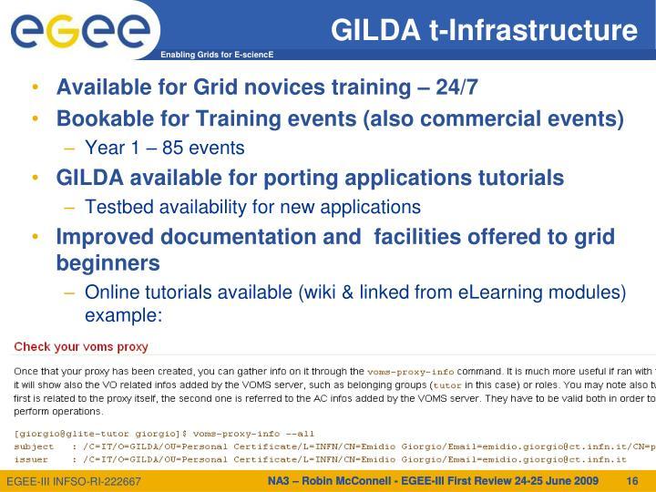 GILDA t-Infrastructure