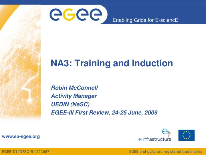 Na3 training and induction