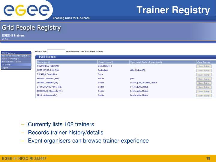 Trainer Registry