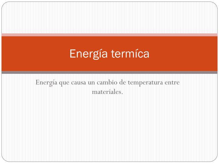 Energía termíca