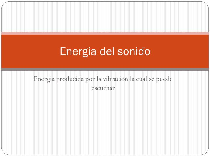Energia del sonido