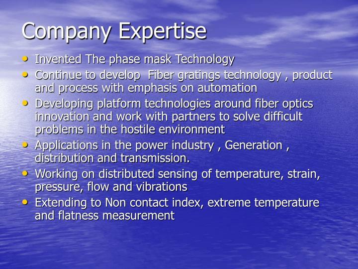 Company Expertise