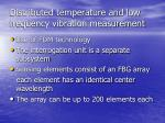 distributed temperature and low frequency vibration measurement