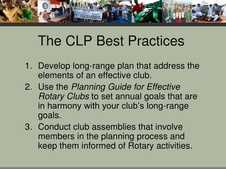 The CLP Best Practices