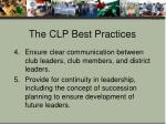 the clp best practices1