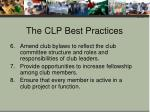 the clp best practices2