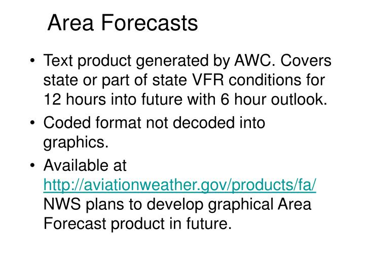 Area Forecasts