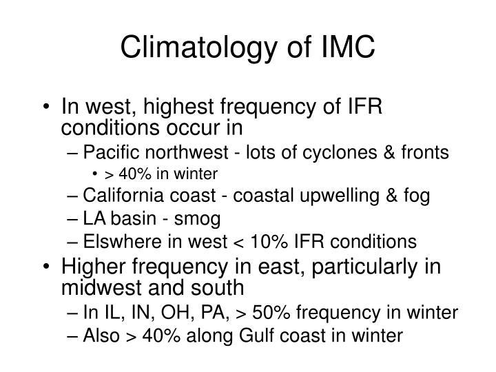 Climatology of IMC