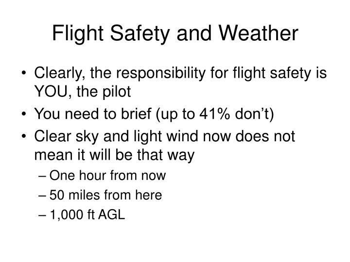 Flight Safety and Weather