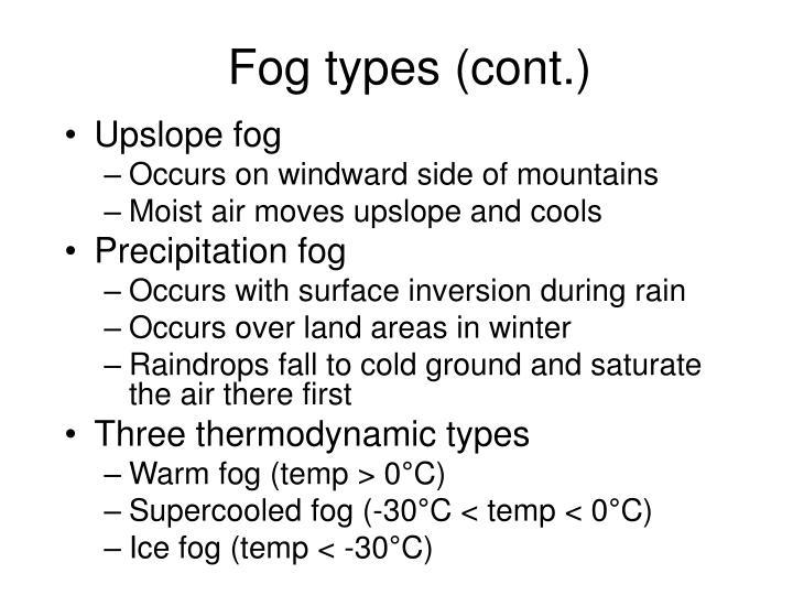 Fog types (cont.)