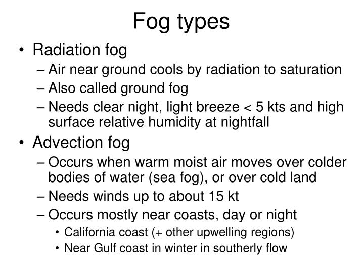 Fog types
