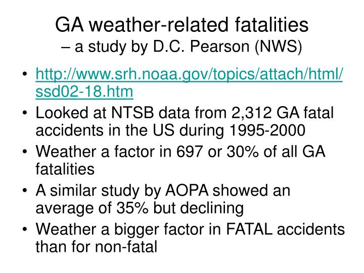 GA weather-related fatalities