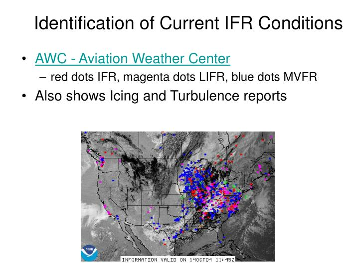 Identification of Current IFR Conditions