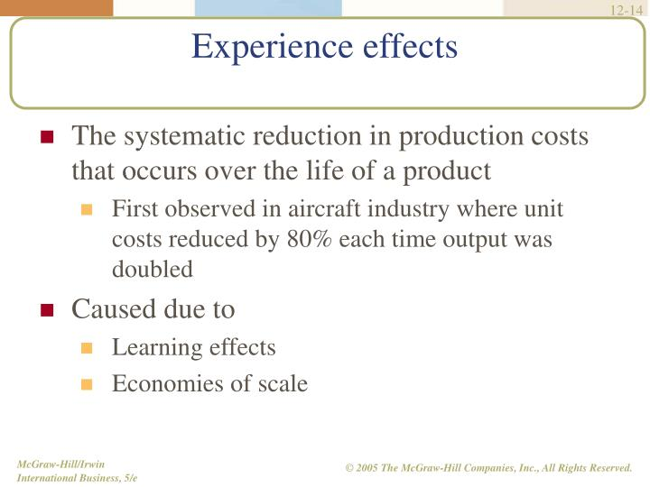 The systematic reduction in production costs that occurs over the life of a product