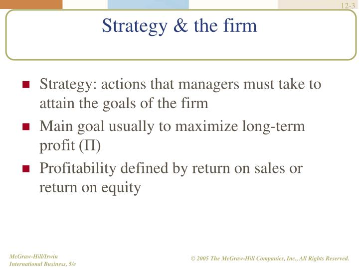 Strategy the firm