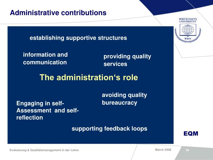 Administrative contributions