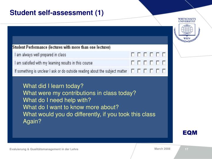 Student self-assessment (1)