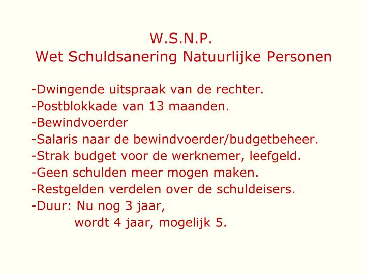 W.S.N.P.