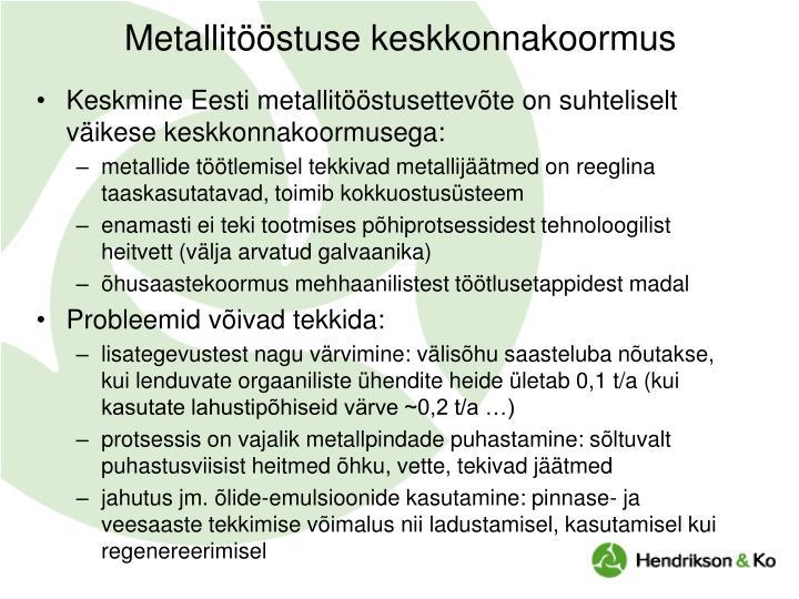 Metallitööstuse keskkonnakoormus