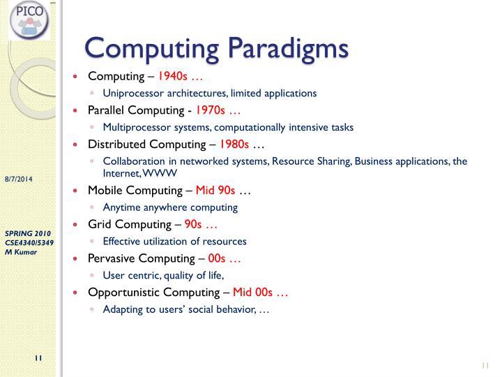 Computing Paradigms