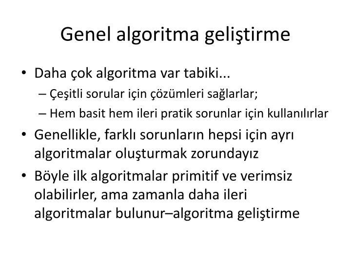 Genel algoritma