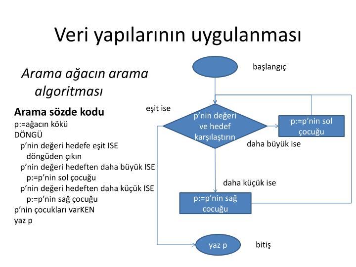Veri yapılarının uygulanması