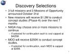 discovery selections