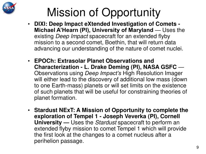 Mission of Opportunity