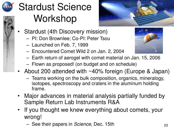 Stardust Science