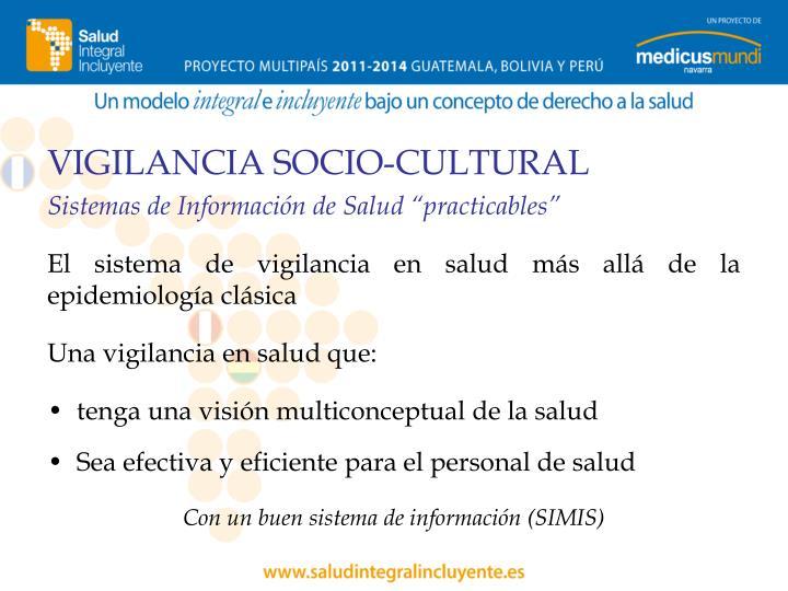 VIGILANCIA SOCIO-CULTURAL