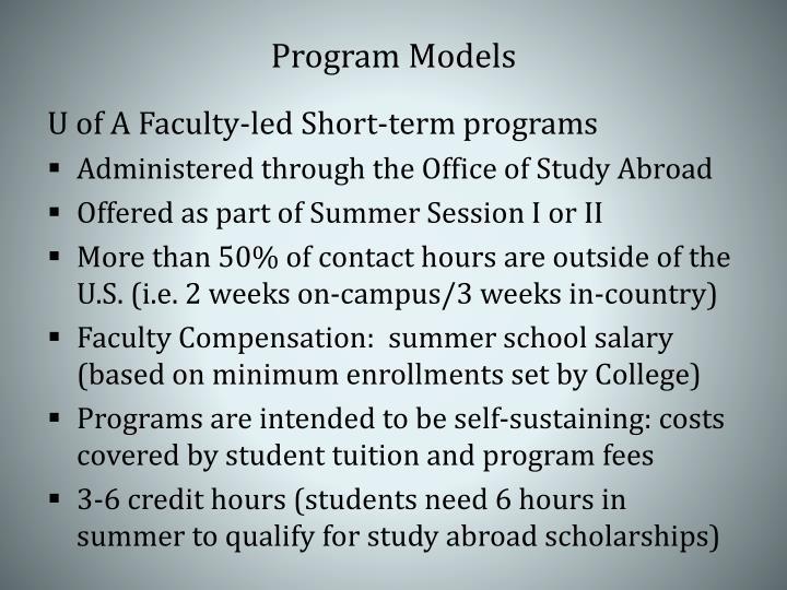 Program Models