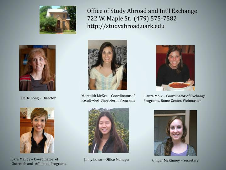 Office of Study Abroad and Int'l Exchange