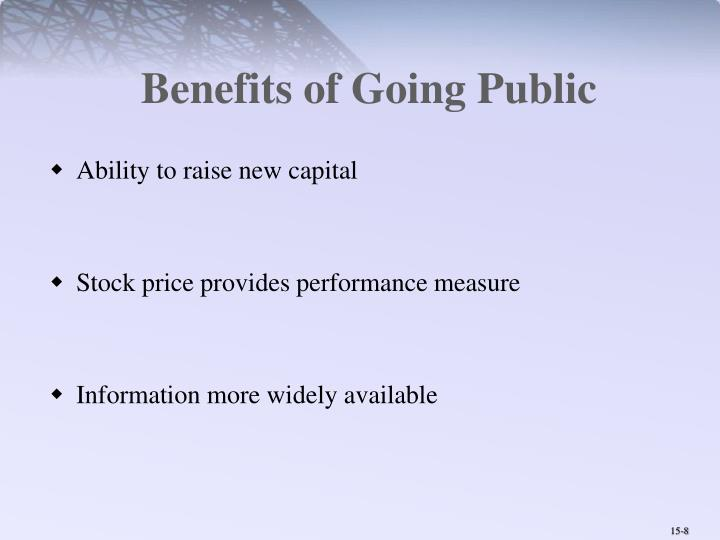 Benefits of Going Public