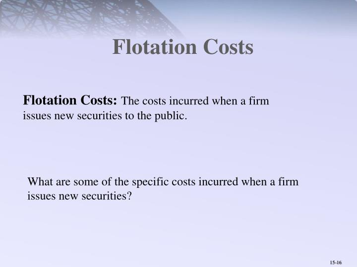 Flotation Costs