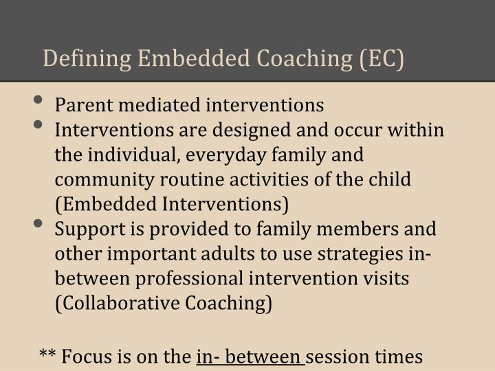 Defining Embedded Coaching (EC)