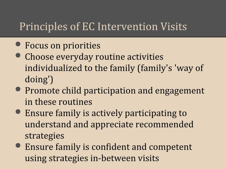 Principles of EC Intervention Visits