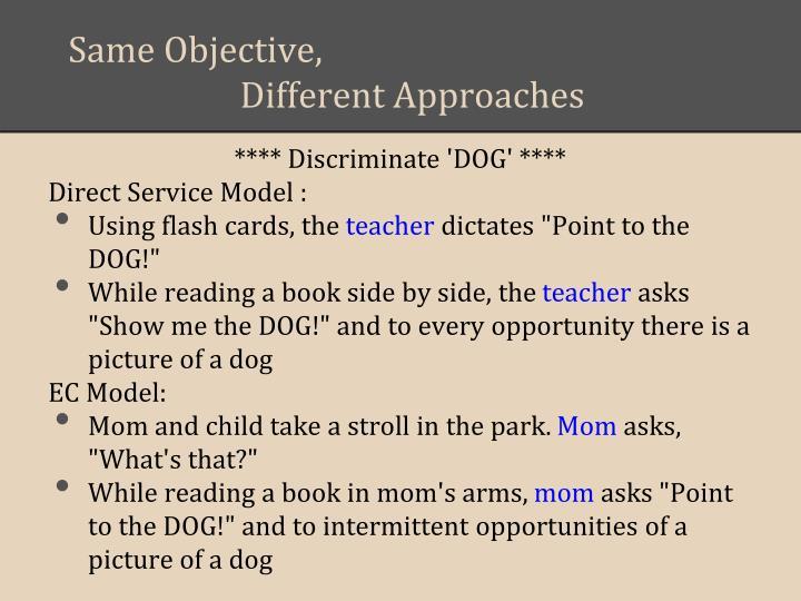 Same Objective,