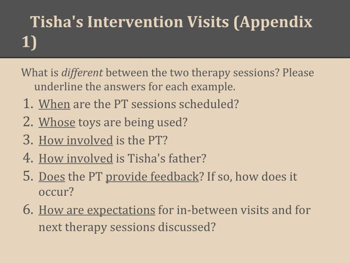 Tisha's Intervention Visits (Appendix 1)