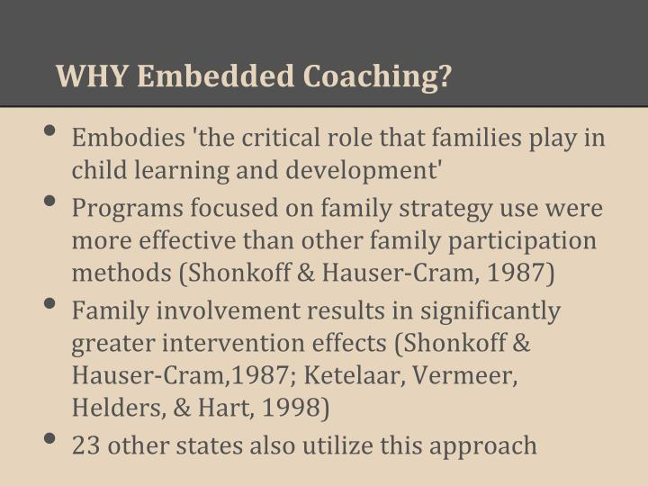 Why embedded coaching