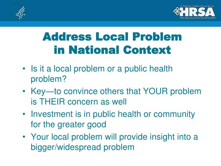Address Local Problem