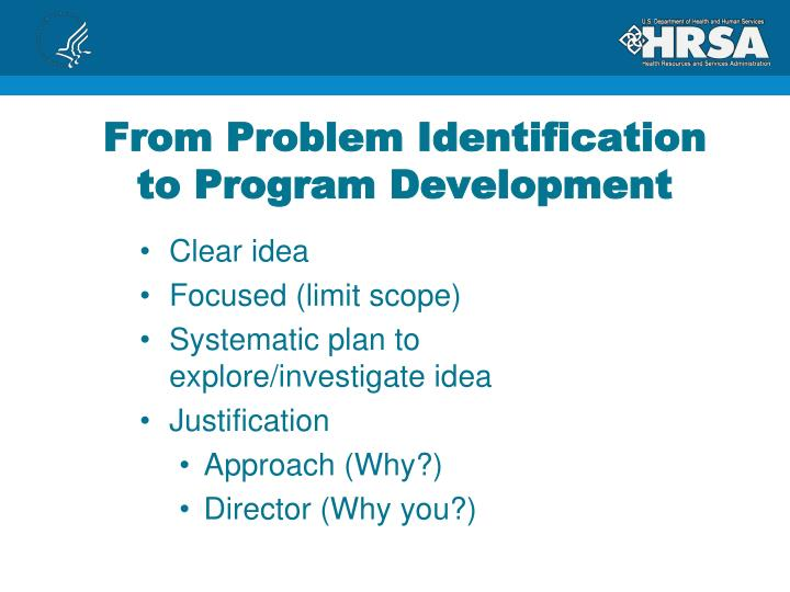 From Problem Identification to Program Development