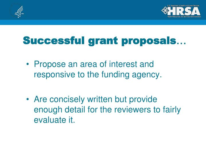 Successful grant proposals