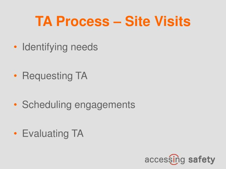 TA Process – Site Visits