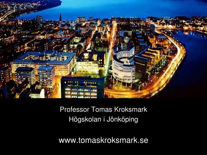 Professor Tomas Kroksmark