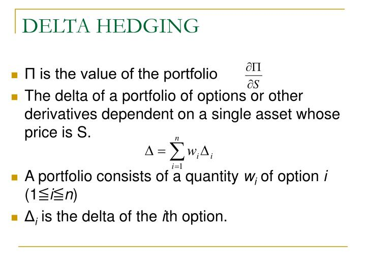 Delta hedge stock options
