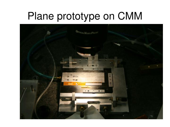 Plane prototype on CMM